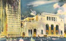 New York City,New York,Roxy Theater,Exterior,7th Ave & 50th Street,Linen,c.1940s