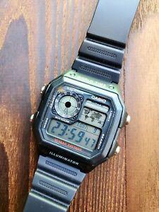Casio World Time 5 Alarm Men's Watch 3299 AE-1200WH 10 Bar