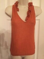Rare Moschino Cheap and Chic NWT $445 Burnt Orange Ruffle Top SZ 10
