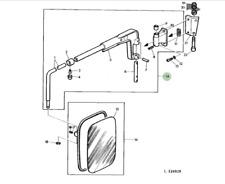 More details for genuine john deere tractor lh mirror bracket arm al216820 2650 2850 3040 3140
