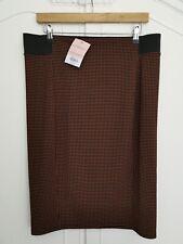 Dorothy Perkins Maternity Skirt Black & Orange Pencil Skirt BNWT Size 12 #223