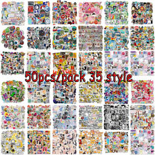 50pc Skateboard Stickers Vinyl Laptop Luggage Decals Car Guitar Sticker Lot Cool
