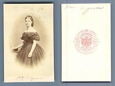 Petersen, Princesse Dagmar de Danemark, future impératrice de Russie CDV vintage