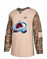 NWT Mens Colorado Avalanche Authentic Adidas CAMOUFLAGE Military Practice Jersey
