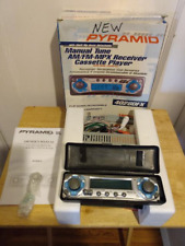 Vtg Pyramid 4028Dfx Car Stereo Am/Fm - Mpx Receiver Cassette Player Box 160 Wats