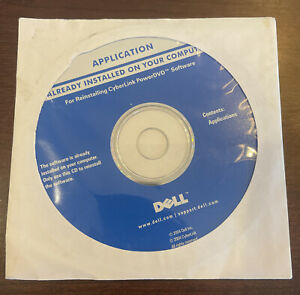 Dell Cyberlink PowerDVD 2004 Software for reinstalling CD NEW SEALED DP/N 0G4874