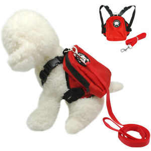Dog Backpack Carrier Cute Soft Harness and Leash Travel Treat Bag for Small Dogs