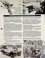 Vtg The Flying Lady  The Bulletin of the Rolls Royce Owners Club Aug 1963 m1113