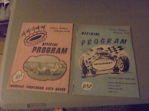 LOT OF 2 AUGUST 1962 AUTO RACING PROGRAMS,EL CAJON,CA.GILLESPIE FIELD,COUNTY STA