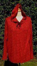 Liz Claiborne Elisabeth patterned cotton hooded top size L BNWT              C15