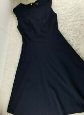 Tommy Hilfiger navy blue fit and flare midi dress SIZE 2 sleeveless stretch (P)