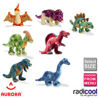 Aurora DINOSAURS Plush Soft Cuddly Toys Sizes 22 to 45cm Children's Gifts