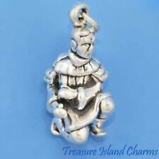 Chinese Xian Terracotta Warrior 3D .925 Solid Sterling Silver Charm Pendant