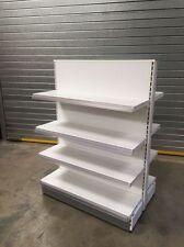 GONDOLA STORAGE UNIT DOUBLE SIDE SHELVES SHOP RETAIL WHITE DISPLAY STAND 1000 ML
