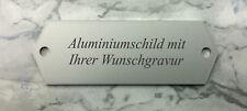 kleines TÜRSCHILD aus Aluminium - silber 58x20mm - inkl. Ihrer WUNSCHGRAVUR