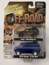Johnny Lightning Jeep Cherokee XJ and Chevy G20 Van