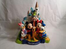 Walt Disney World Castle Coin Bank w/ 3 D Disney Character Figures PVC Plastic