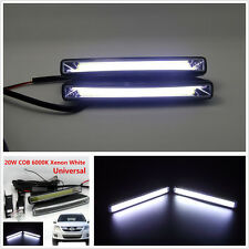 2Pcs Super Bright Car 20W COB 6000K Xenon White LED Light DRL Driving Fog Lamps