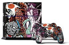 Skin Sticker for PS4 System Playstation 4 Console +2 Controller Decals TSUNAMI