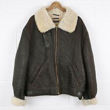 Vintage Type B-3 Aviator Flight Leather Shearling Jacket Size Mens XL /R45002