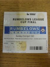 21/04/1991 Ticket: Football League Cup Final, Manchester United v Sheffield Wedn