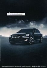 2012 Hyundai Genesis - Performance  Original Advertisement Print Art Car Ad J923