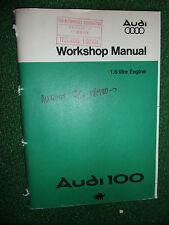 AUDI 100 1.6L PETROL ENGINE GENUINE OEM FACTORY WORKSHOP MANUAL 1976-80>