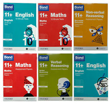 Assessment Papers 10 Min Test 8-9 Year Bond 11+  English Maths Reasoning 6 Books