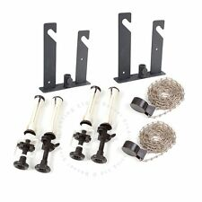 Bessel 2 roll Wall / Ceiling Mount Vinyl Background Support Kit Metal Chain
