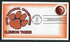 "5203 * ""HAVE A BALL"" * FOOTBALL STAMP * CLEMSON TIGERS 2017 NATL. CHAMPIONS *"