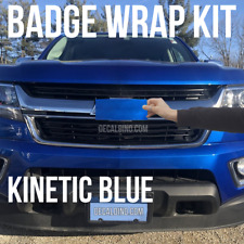 Kinetic Blue Truck Emblem Wrap Kit -For Chevy Colorado BowTie Badge Color match