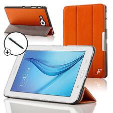 Leather Orange Folding Smart Case Cover Samsung Galaxy Tab E Lite 7.0 Stylus