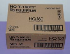 Box of 10 Fujifilm 8 Hours High Quality T-160 Blank VHS Videocassette Tapes -NEW