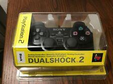 Ufficiale Nero Sony Ps2 Playstation 2 Dualshock Controller Pastiglia -