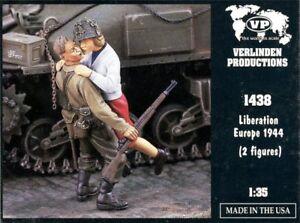 Verlinden 1:35 Liberation Europe 1944 2 Resin Figures Kit #1438