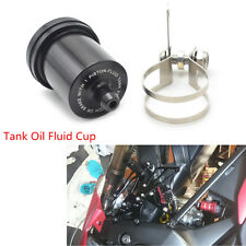 Motorcycle Motorbike Black Metal Brake Fluid Reservoir Clutch Tank Oil Fluid Cup