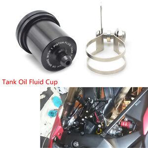 Motorcycle Motorbike Black Metal Brake Fluid Reservoir Clutch Tank Oil Fluid Cup