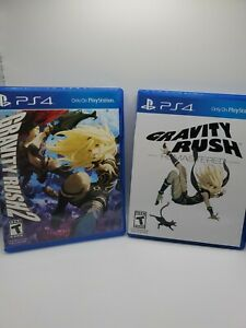 Gravity Rush Remastered & 2 (Sony PlayStation 4) Tested & Working