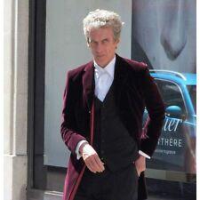 12th Doctor Who Peter Capaldi Maroon Velvet Coat - Best Price Offer