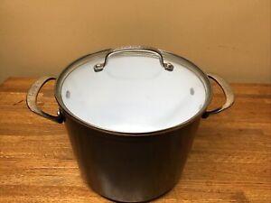 Cuisinart 8QT Stock Pot Induction Ready  w/ Lid Soup Pan 59166-24BK BLUE