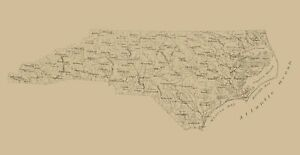North Carolina - Stephenson 1893 - 23.00 x 44.66