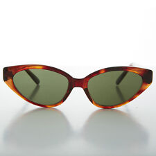 Tortoiseshell Punk Rocker Oval Cat Eye Women's Sunglass - Audrey