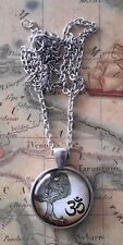 Yoga Silver Tree of Life Cosmic Truth Divine Spirit PENDANT NECKLACE &CHAIN Ohm