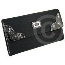NEWEST! Brand GUESS Ladies Wallet Purse SIGNS Coal Canvas SLG USA