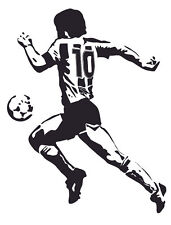 Wall Stickers. Adesivo murale arredamento MARADONA - REAL SIZE VARIOUS COLORS