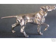NEW! MINIATURE STERLING SILVER POINTER GUN DOG FIGURINE