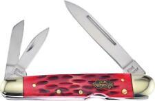 Frost Lockback Whittler Red Bone Steel Warrior Stainless Folding Knife SW116DRWJ