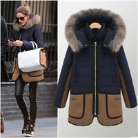 Fashion Womens Winter Warm Outwear Overcoat Thicken Hooded Coat Parka Jacket GN