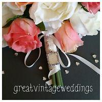 Bridal Silver Memory Oblong Locket Pendant Bouquet Charm & Gift Bag