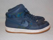 ae668bf85f5c Nike AF1 Ultra Force Mid Print Squadron Blue White-Gum Med Brn 807384-